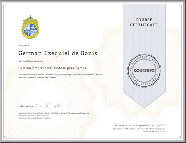 certificado curso online chile