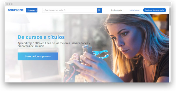 coursera cursos online español