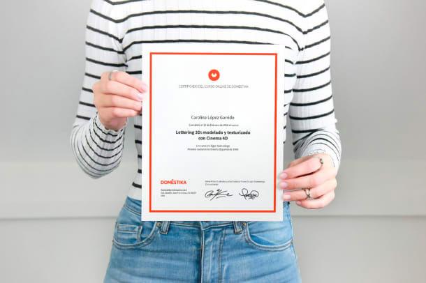 certificado de curso de domestika