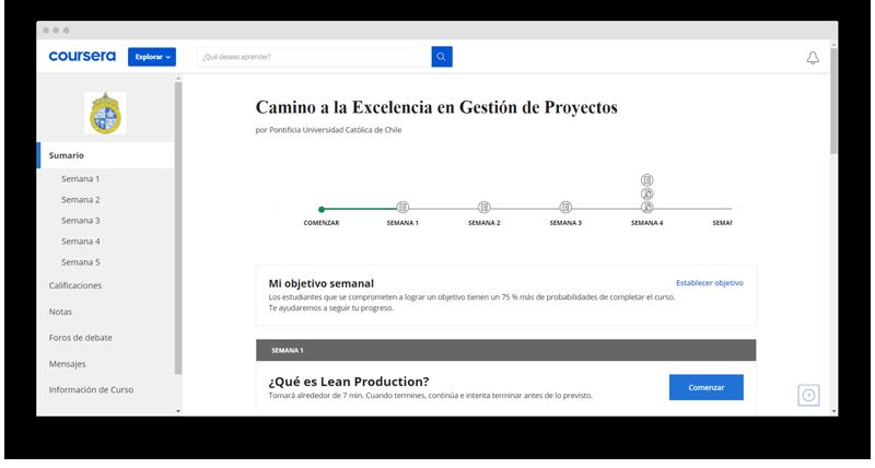 gestion de proyectos curso